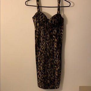 Kardashian Kollection Leopard Midi Dress